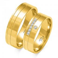 Złote obrączki wzór OE-217