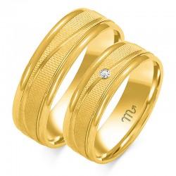 Złote obrączki wzór OE-189