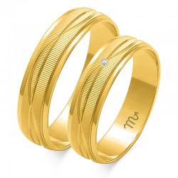 Obrączki złote model O-116
