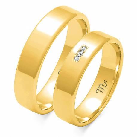 Obrączki złote model O-101