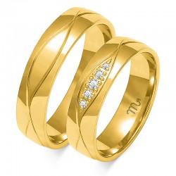 Obrączki złote model O-113