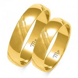 Złote obrączki wzór A-127