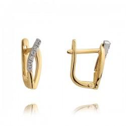 Złote kolczyki N378K