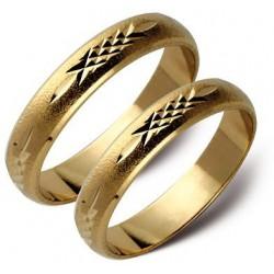 Ślubne obrączki 5mm białe lub żólte złoto ST8