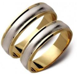 Obrączki białe i zółte złoto ST11