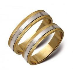 Obrączki ślubne zólte i białe złoto ST13