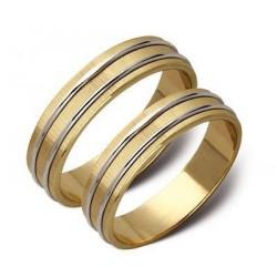 Obrączki ślubne białe i zółte złoto ST15