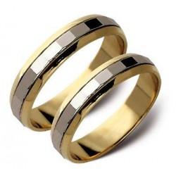 Obrączki ślubne żólte i białe złoto ST22