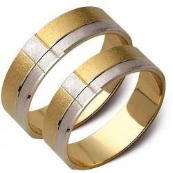 Obrączki złote, białe i żółte złoto ST41