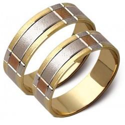 Obrączki złote, białe i żółte złoto ST44