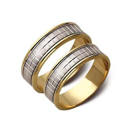 Obrączki białe i żólte złoto ST49