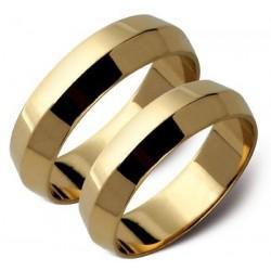 Złote obrączki żółte lub białe złoto ST51
