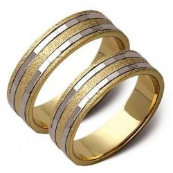 Złote obrączki białe i żółte złoto ST52