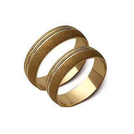 ślubne obrączki biae i żółte złoto ST54