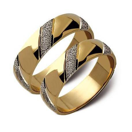 Złote obrączki białe i żółte złoto ST55