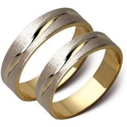 Złote obrączki ślubne płaskie ST62
