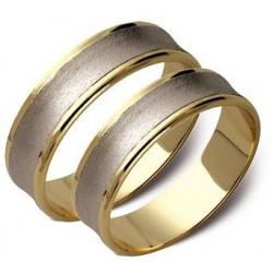 Złote obrączki 6mm białe i żółte złoto ST71