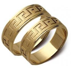 Złote obrączki ze wzorkiem ST87