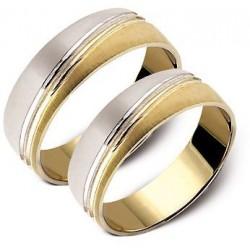 Złote obrączki, białe i żółte złoto ST96