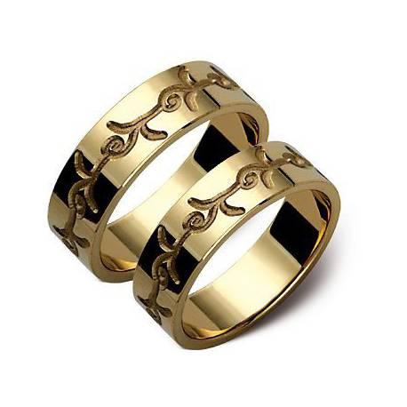 Złote obrączki, żółte złoto ST105