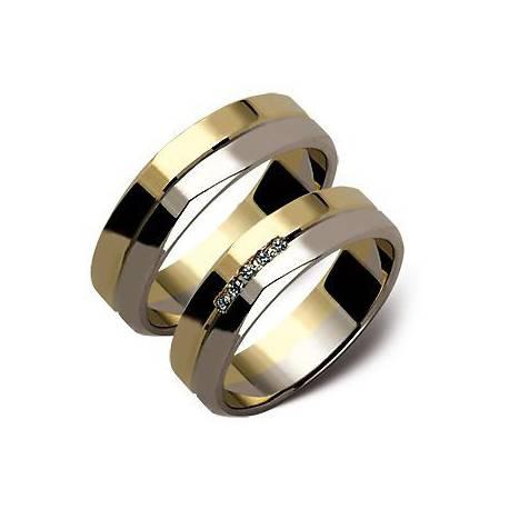 Obrączki złote z cyrkoniami ST106