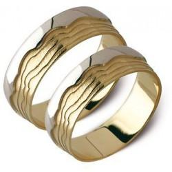 Obrączki żóte i białe złoto ST111