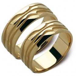 Obrączki żółte złoto ST114