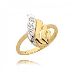 Złoty pierścionek N43