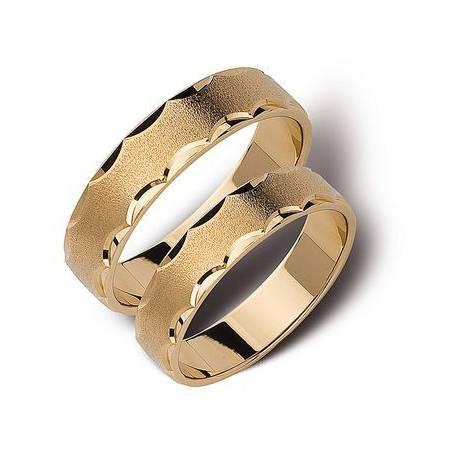 Złote obrączki 6mm ST142