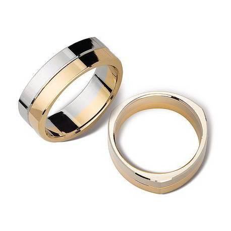 Obrączki białe oraz żólte złoto ST143