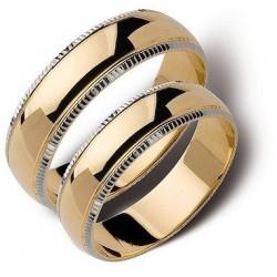 Obrączki białe oraz zólte złoto ST146