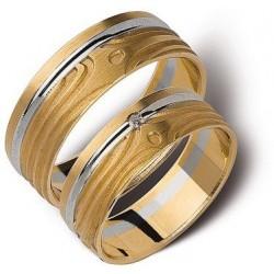 Białe i zołte złoto obrączki 6mm ST150