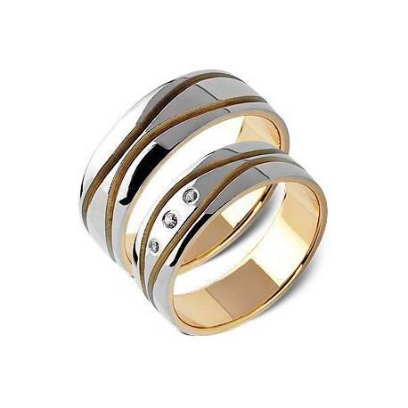 Obrączki złote z cyrkoniami ST165