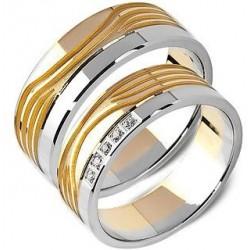 Obrączki złote z cyrkoniami ST166