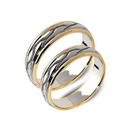Obrączki białe oraz zólte złoto ST168