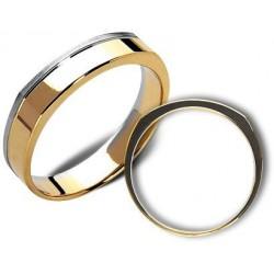 Obrączki białe oraz zólte złoto ST177