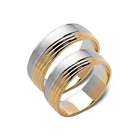 Obrączki białe oraz zólte złoto ST182