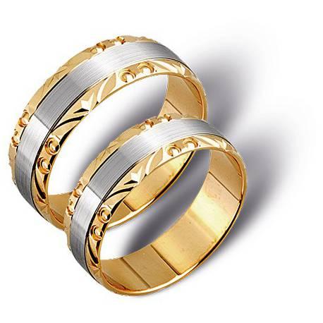 Obrączki białe oraz zólte złoto ST207