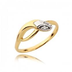 Zaręczynowy pierścionek z białym złotem