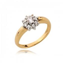Gustowny zaręczynowy pierścionek z cyrkoniami