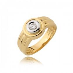 Elegancki pierścionek z białym kamieniem