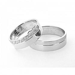 Obrączki ślubne,brylanty w damskiej obrączce,białe złoto