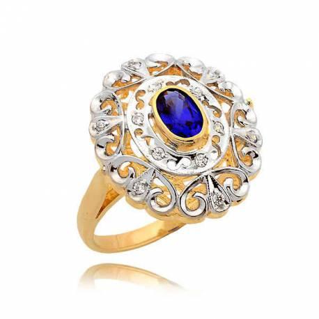 Piękny pierścionek z szafirem