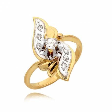 Orginalny pierścionek z cyrkoniami