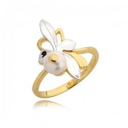 Delikatny pierścionek z perłą
