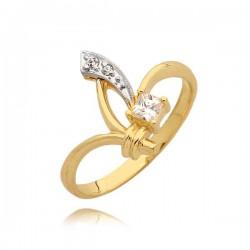 Orginalny złoty pierścionek