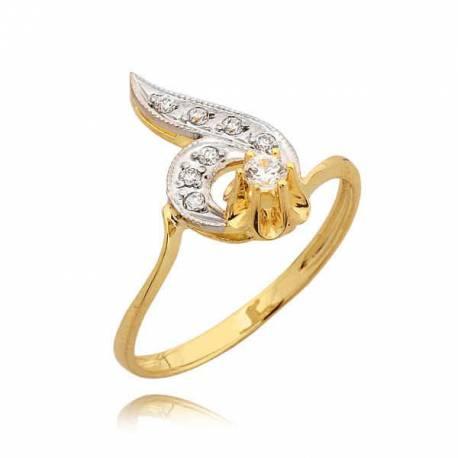 Efektowny pierścionek