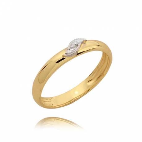 Śliczny skromny pierścionek z cyrkonią