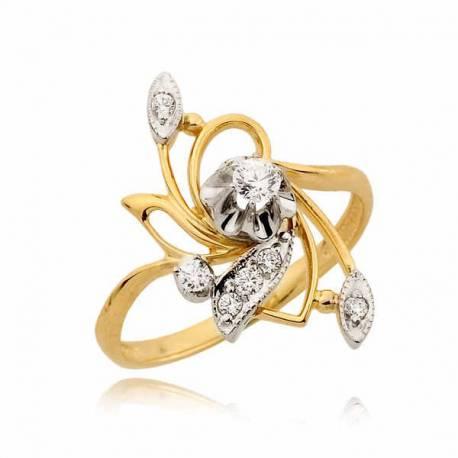 Przepiękny pierścionek z cyrkoniami