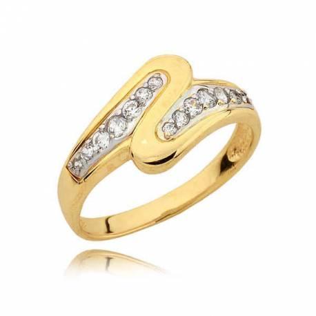 Złoty pierścionek N242